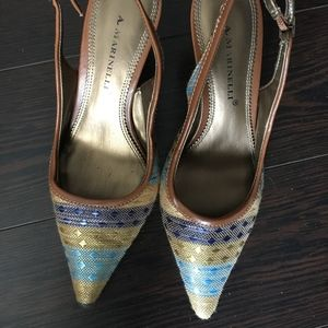 A. Marinelli Sling Back Multi-Color Great Condit.
